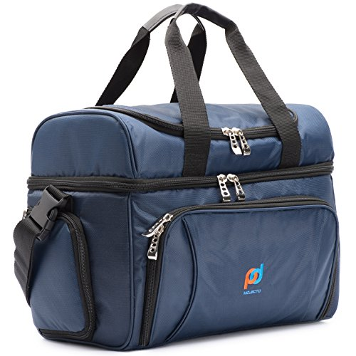 Small Cooler Bag 12x10x6.5 Inch.Two Insulated Compartment, Heavy Duty Polyester, High Density Insulation, 2 Heat Sealed Removable Peva Liner, Many Pockets,...
