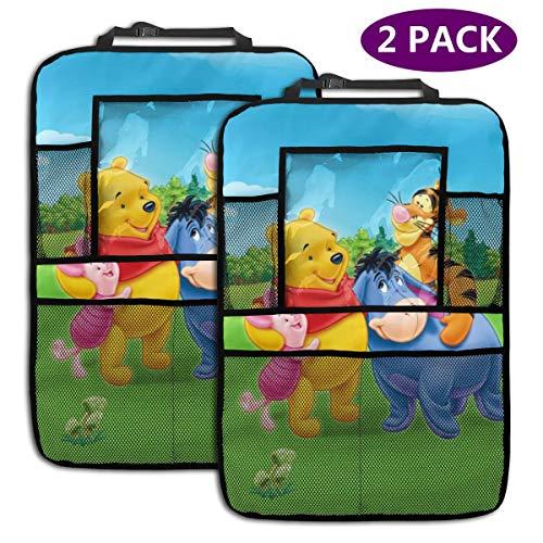 Winnie Pooh Happy Time Lot de 2 Sacs de Rangement pour siège arrière de Voiture avec Support pour Tablette
