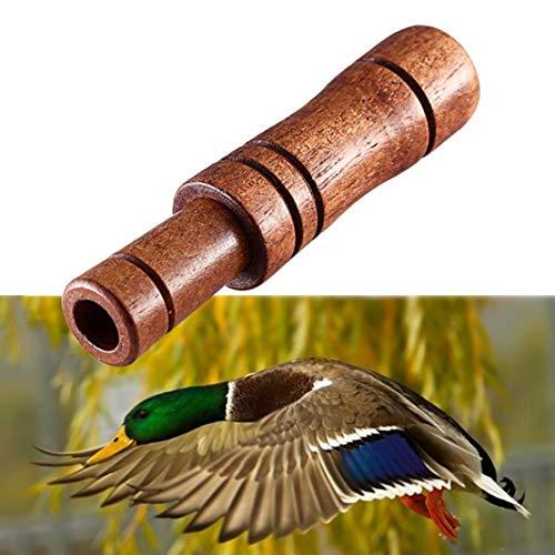 YSHTAN - Silbato de caza de pato, silbato de caza de pato, silbato de llamada, color madera