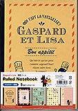 B5 ノート 5冊パック Gaspard et Lisa 6.5mm罫