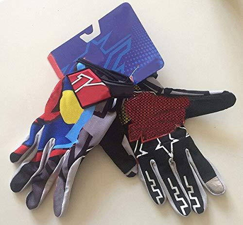 Nuovi guanti da Ciclismo a dito pieno Uomo Donna Guanti da bicicletta da Corsa MTB Guanti da Bici da Strada antiscivolo traspiranti-Grigio, XL