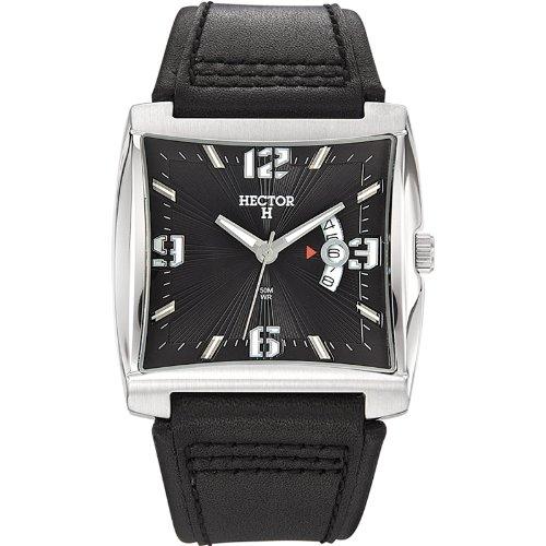 Hector H Herren-Armbanduhr Analog Leder 665141
