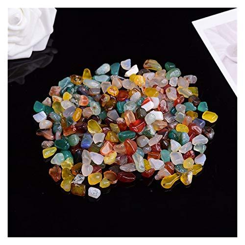 50g-100g de Cuarzo Natural del Cristal de Color Blanco Mini Roca Mineral de muestras Decoración Colorido for el Acuario de Piedra curativo de la Manera Simple (Color : Multi Colored, Talla : 100g)
