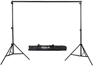 Phot-R 3x3m Studio Background Support System, 2X 3m Stands and 3m Crossbar Adjustable Portable Photography Set + Carry Case Kit for Paper Muslin Cotton Vinyl Non-Woven Canvas Backdrops