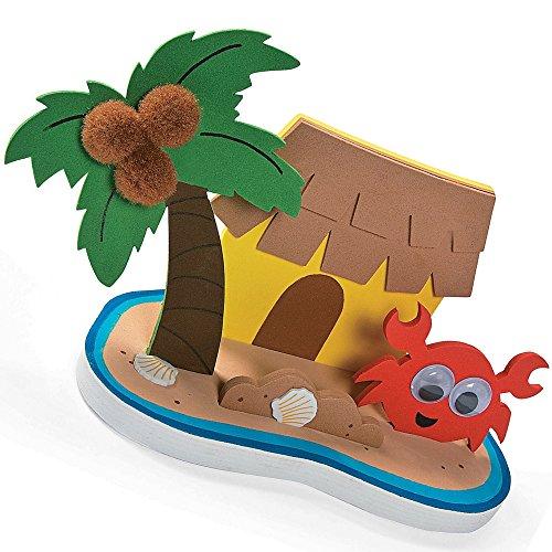 Elfen und Zwerge 6 x Insel Hawaii Sommerparty Bastelset Planschbecken Spielzeug Basteln Mitgebsel Geburtstag Meerjungfrau