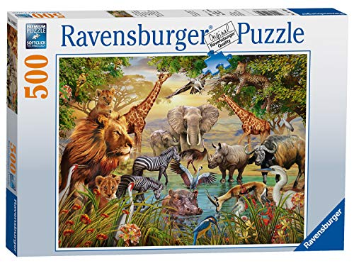 Ravensburger Puzzle 14809 - Am Wasserloch - 500 Teile