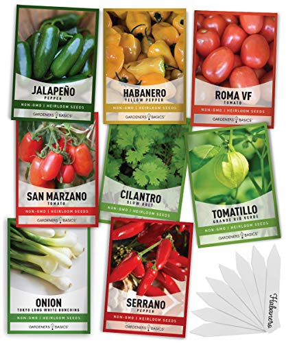 Heirloom Hot Salsa Growing Seed Packets 8 Varieties Habanero,...