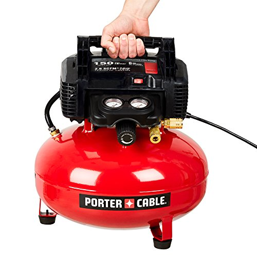 PORTER-CABLE Air Compressor, 6-Gallon, Pancake, Oil-Free (C2002)