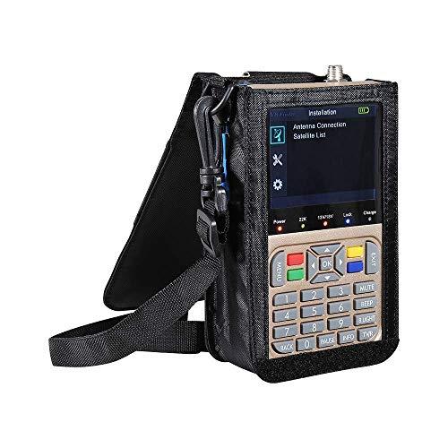 FGVBC Medidor de señal de buscador de satélite Profesional, Antena de TV portátil Medidor de buscador de señal de Alta definición Receptor DVB-S2, S2X Detector de satélite para Ajustar la Antena