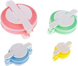 Homyl Ensemble de 4 Appareils à Pompons en Plastique pour Faire Balles en Peluche Facilement Pompons Maker 8cm / 6cm / 4cm / 3cm