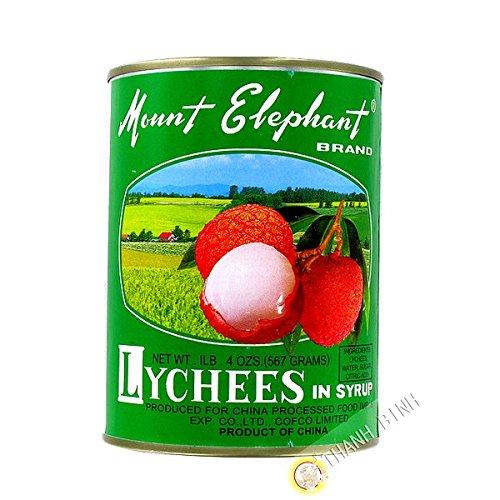 Lichis en almíbar MONTAR en ELEFANTE 567g China - Pack de 3 uds