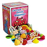 CAPTAIN PLAY   Retro Süßigkeiten Candy Dispenser  Retro Süßigkeiten Box mit 600g Nostalgie-Süßigkeiten in Einzelverpackung