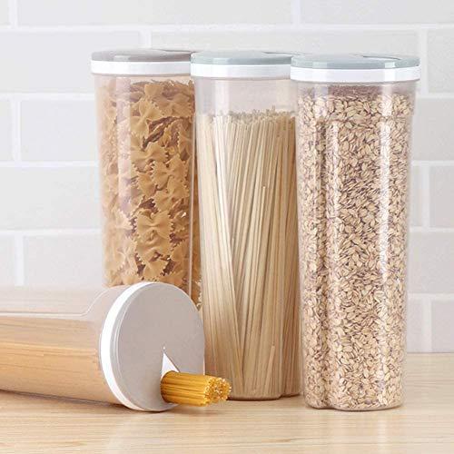Nudel-Aufbewahrungsbox für Spaghetti, Pasta, Behälter, Müsli, Snacks, zucker versiegelte Behälter, Aufbewahrungsbehälter, Getreidebehälter 10,5 * 28,7 cm/4,1 * 11,3Zoll (1 Stück Farbe zufällig)