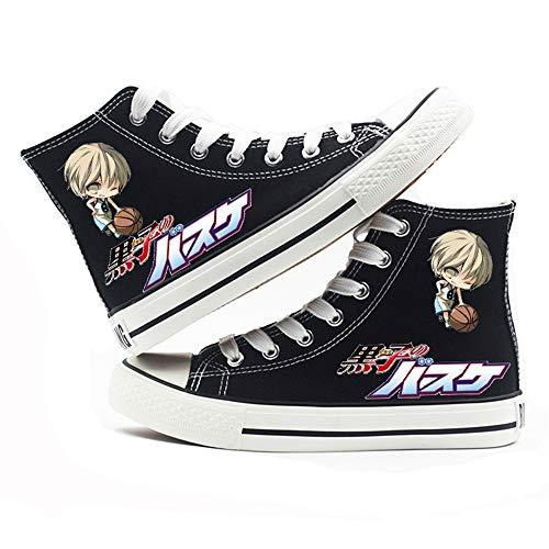jiushice Kuroko 's Baloncesto, Cosplay zapatos de lona, zapatos unisex para adultos, con cordones, botines informales, zapatos deportivos para gimnasio, color, talla 44 EU