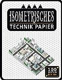Isometrisches Zeichnen Din A4 100 Sleiten   Dreiecknetzpapier   Isometriepapier   Isometrie 3D-Zeichenblock   Isometrieblock Technik Papier: ... Millimeterpapier-Notizbuch (Ref-17)