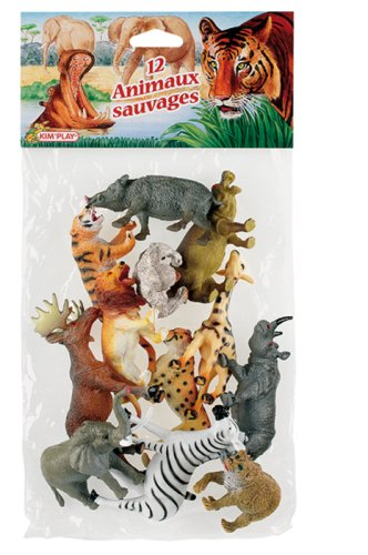 Cofalu Kim'Play - Figurine - Animal - 12 X Animaux Sauvages