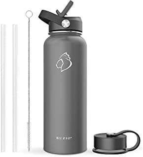 Best Insulated Water Bottle with Straw Lid and Flex Cap, 32oz, 40oz, 64oz, 87oz Modern Double Vacuum Stainless Steel Water Flask, Cold for 48 Hrs Hot for 24 Hrs Simple Thermo Canteen Mug,BPA-Free Reviews