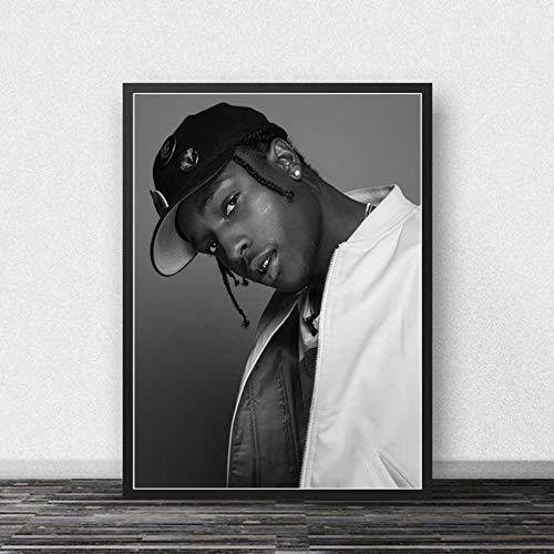 KWzEQ Rapper Poster Musik Star Rapper Print Wohnzimmer Home Dekoration,Rahmenlose Malerei,60X90cm