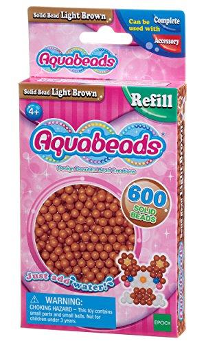 Aquabeads - La Recharge Perles Marron Clair - 32608 - Recharge Couleur - Loisirs Créatifs