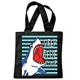 Tasche Umhängetasche WEIßER HAI HAIFISCH RAUBFISCH DEEP Blue Zone HAI HAIFISCH Shark Attack WEIßER HAI KATZENHAI SANDHAI TIGERHAI Einkaufstasche Schulbeutel Turnbeutel in Schwarz