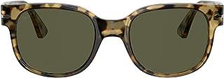 نظارات شمسية من بيرسول للرجال PO3257s عدسات مستقطبة خضراء بلون بني وبيج
