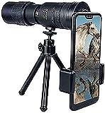Regalo 10-300X40mm Telescopio monocular con zoom súper telefoto con soporte para teléfono inteligente y trípode para viajes en la playa Observación de aves Camping Senderismo y mejores regalos