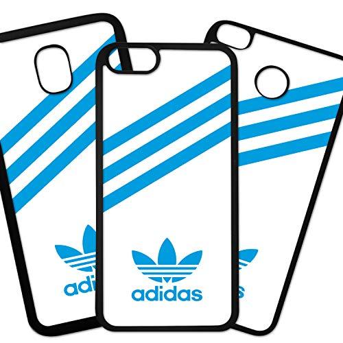 Tuscaprichosonline Fundas De Moviles Carcasas De Moviles Funda Carcasa Compatible con Marca Deportiva Adidas Logo Azul Fondo Blanco
