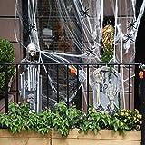 NATUCE 100g Blanco Telaraña con 60 Pcs Arañas Negro para de Fiesta de Halloween Haunted ...