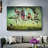 Aaubsk DIY Pintar por números Reproducciones de Obras de Arte Famosas Pintar por numeros para Adultos con Pincel y Pintura acrílica Pintura para Adultos de40x60cm(Sin Marco)