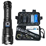 Rechargeable Flashlights High Lumens XHP50 LED Most Powerful Tactical Flashlight Bright Torch with USB charger & 26650 Battery Waterproof Zoomable Best Outdoor Camping Emergencies (XHP50)