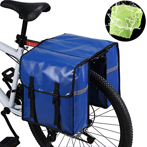 WILDKEN Alforjas para Portaequipajes de Bicicleta, Bolsas Traseras para Bicicletas MTB Sillines Pannier Bag Impermeable Bicicleta Carretera Asiento Trasero (Azul)