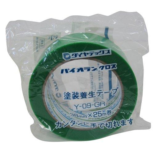 ダイヤテックス パイオランクロス 養生用テープ 緑 38mm×25m Y-09-GR [マスキングテープ]