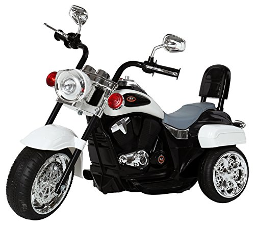 Ricco TR1501Motore Elettrico per Bambini 3Ruota Chopper Triciclo Moto Bici luci LED e Musica, Bianco