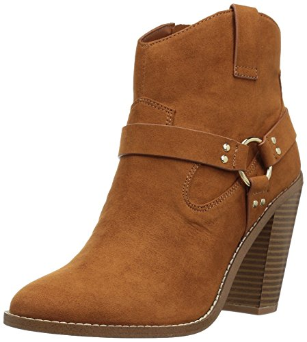 Callisto Women's Fancye Ankle Bootie, Cognac Suede, 9.5 M US