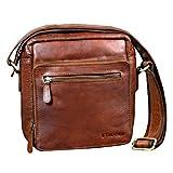 STILORD 'Nathan' Umhängetasche Herren Leder klein braun Vintage Herrentasche 10,1 Zoll Tablettasche für iPad echtes Leder, Farbe:maraska - braun