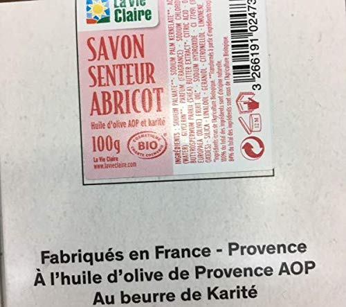SAVON ABRICOT BIO 100 G