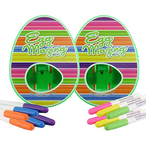 The EggMazing Egg Decorator Mini Decorator 2 Pack - Decorate Eggs Twice as Fast, Twice as Fun - Best with Large and X-Large Eggs