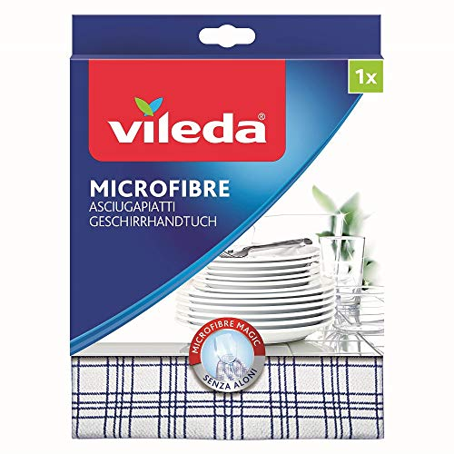 Vileda Microfaser Geschirrhandtuch farblich sortiert, 1er Pack