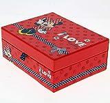 RGL Carattere Portagioie - Scatola portaoggetti Disney Minnie Mouse)