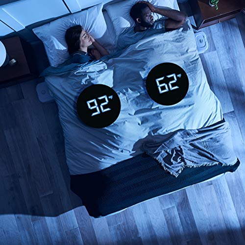 ChiliSleep Cube Sleep System - ME and WE Zones - Cooling and Heating Mattress Pad - Individual Temperature Control, Great Sleep Enhancement, Wireless Remote Integration (Single (75