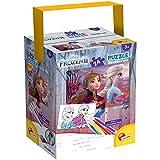 Liscianigiochi- Puzzle in a Tub Doble Cara con Reverso para Colorear 24 Piezas con 4 rotuladores incluidos Disney Frozen Reina de Las Nieves Puzle para niños, Multicolor (86153)