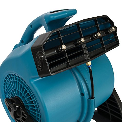 XPOWER FM-48 1/8 HP, 600 CFM, 3 Speed Portable Outdoor Cooling Misting Fan- Blue