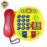 Yita Telefono Giocattolo Regalo per Bambini da 1 a 3 Anni, Yello