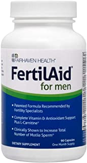 FertilAid for Men: Male Fertility Supplement for Sperm Count, Motility, and Morphology É