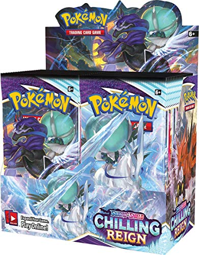 Pokemon 177-81846 Sword & Shield—Chilling Reign Display Booster-Displaybox, Mehrfarbig, 3