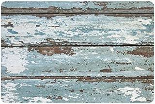 InterestPrint Rustic Old Barn Wood Non Slip Indoor/Outdoor Doormat Floor Mat Home Decor, Entrance Rug Rubber Backing 23....