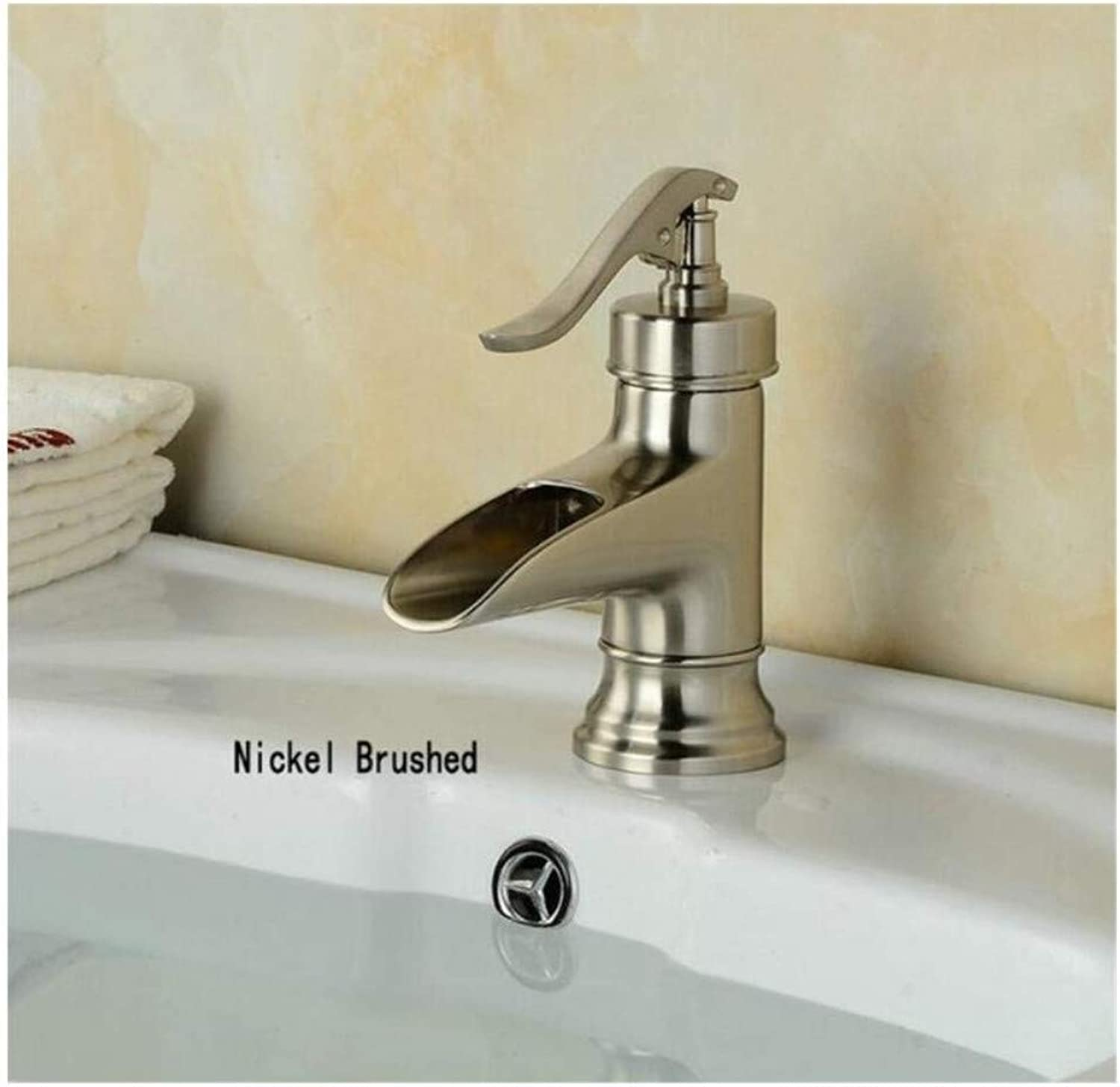 Brass Wall Faucet Chrome Brass Faucet Faucet Bathroom Basin Mixer Tap with Hot&Cold Water