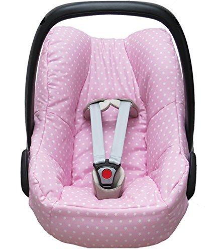 Blausberg Baby Housse pour la Maxi Cosi Pebble Coque bébé en rose avec étoiles