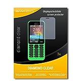 SWIDO 3 x Schutzfolie Microsoft Nokia 215 Dual SIM Bildschirmschutz Folie DiamondClear unsichtbar