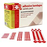 Ever Ready First Aid Quality Adhesive Bandages, Variety Pack of 280 Assorted Bandages